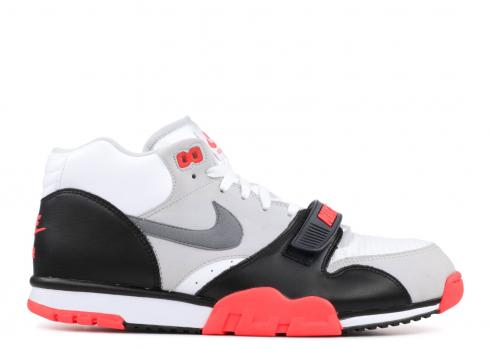 buying now cute great deals 2017 Nike Air Trainer 1 Mid PRM QS White Cool Grey Black 607081-100