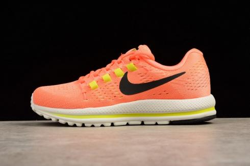 Nike Air Zoom Vomero 12 Orange Running Shoes White Lace Up 863766 ...