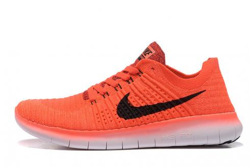 Nike Free RN Flyknit 5.0 Bright Crimson Black University Red Wmoens Running Shoes 831069-600
