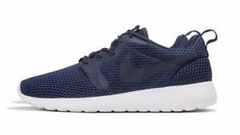Nike Roshe Run One Hyperfuse BR Midnight Navy White Running Shoes 833125-400