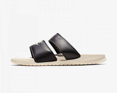 Wmns Nike Benassi Duo Ultra Slide Black Guava Ice Womens Shoes 819717-004