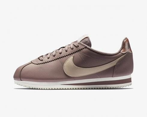 Nike Classic Cortez Leather Particle Beige Smokey Mauve Metallic Red Bronze AV4618-200