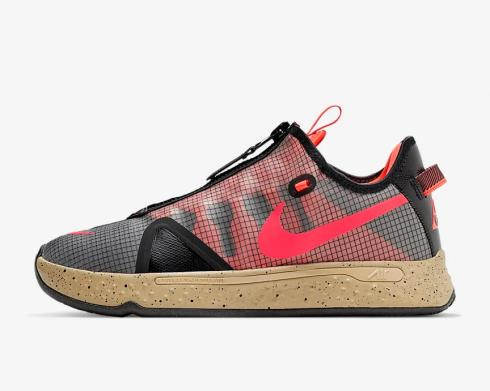 Nike PG 4 PCG Red Black Multi-Color Mens Shoes CZ2240-900