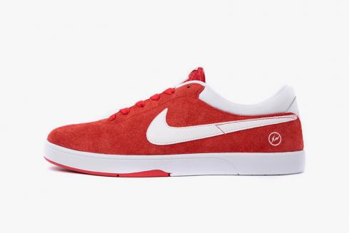 Fragment Design x Eric Koston 1 SB University Red White Shoes 628983-601