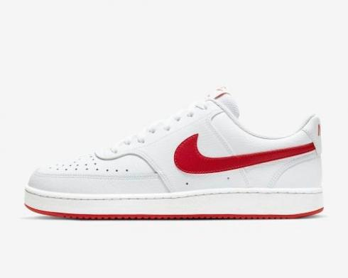 NikeCourt Vision Low White University Red Shoes CD5463-102