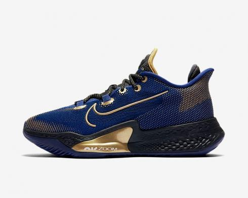 Nike Air Zoom BB NXT Blue Black Metallic Gold Coin CK5707-400