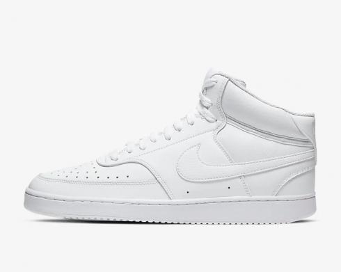 Nike Court Vision Mid Triple White Running Shoes CD5466-100