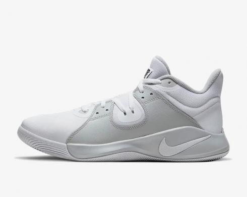Nike Fly.By Mid White Grey Fog Black Baskeball Shoes CD0189-100