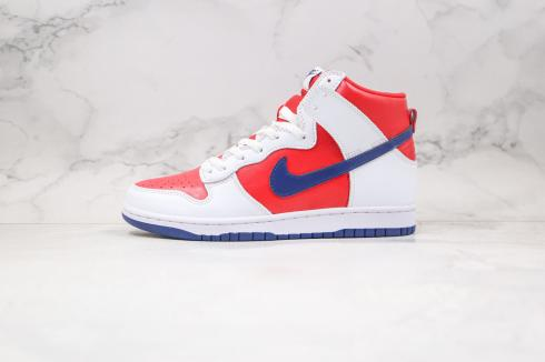 Nike SB Dunk High White Rapid Varsity Red Running Shoes 305287-141