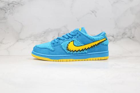 Grateful Dead x Nike SB Dunk Low Blue Bear Yellow CJ5378-400