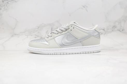 Nike SB Dunk Low PRO Grey Silver White Running Shoes 854866-029