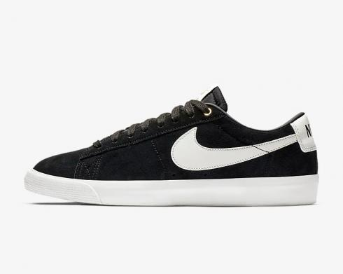 Nike SB Blazer Low GT Black Sail Black White Mens Shoes 704939-001