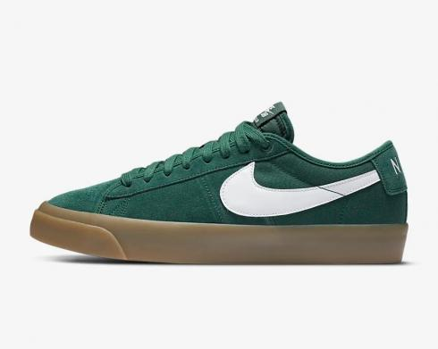 Nike SB Zoom Blazer Low Pro GT Green Gum White Brown DC0603-300