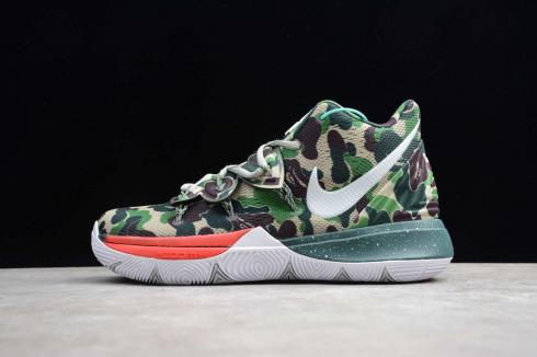 Nike Kyrie V 5 EP Camouflage Green Best Price Ivring Basketball Shoes AO2919-209