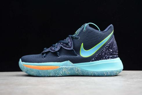 Nike Kyrie V 5 EP UFO Obsidian Light Blue Green Ivring Basketball Shoes AO2919-410
