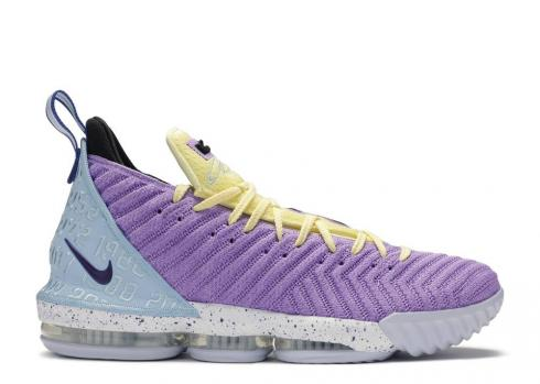 Nike Lebron Xvi Lakers Heritage Blue Bicycle Violet Yellow Atomic Half CK4765-500