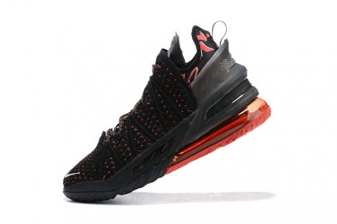 New Release Nike Zoom Lebron 18 XVIII Black Gym Red King James Basketball Shoes AQ9999-006