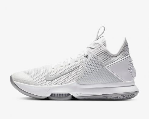 Nike Zoom Lebron Witness 4 White Wolf Grey Pure Platinum CV4004-100