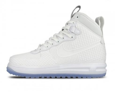 Nike Lunar Force 1 Duckboot All White Anthracite Mens Shoes 806402-100