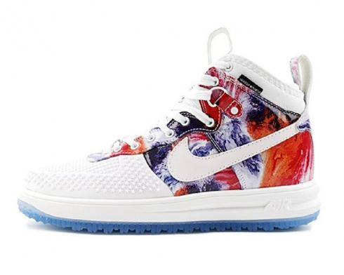 Nike Lunar Force 1 Duckboot Mens Shoes Multi Color White Blue 805899-161