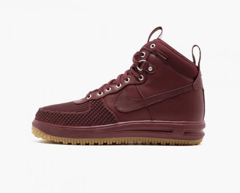 Nike Lunar Force 1 Duckboot Team Red Gum Mens Running Shoes 805899-600