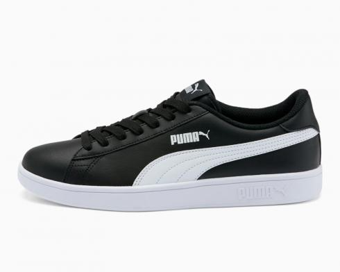 Puma Smash V2 Leather L Sneaker Black White Casual Shoes 365215-04