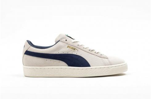 Puma Suede Classic Archive Birch Navy Low Top Casual Shoes 365587-02