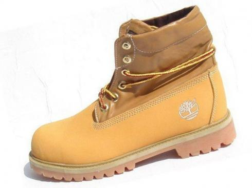 Timberland Mens Wheat Brown Roll-top Boots