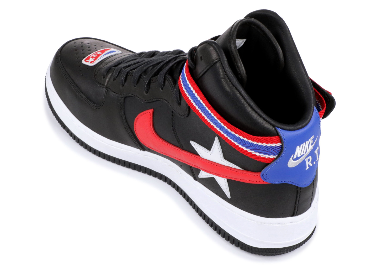 biggest discount half off attractive price Air Force 1 Hi Rt Riccardo Tisci University Black White Red AQ3366 ...