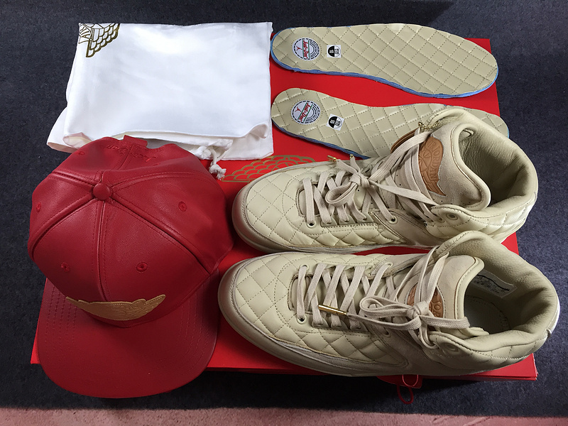 Nike Air Jordan 2 Retro Just Don Don C DS Beach Hat Gold Pin Beach Metallic Gold University Red Basketball Shoes 834825 250