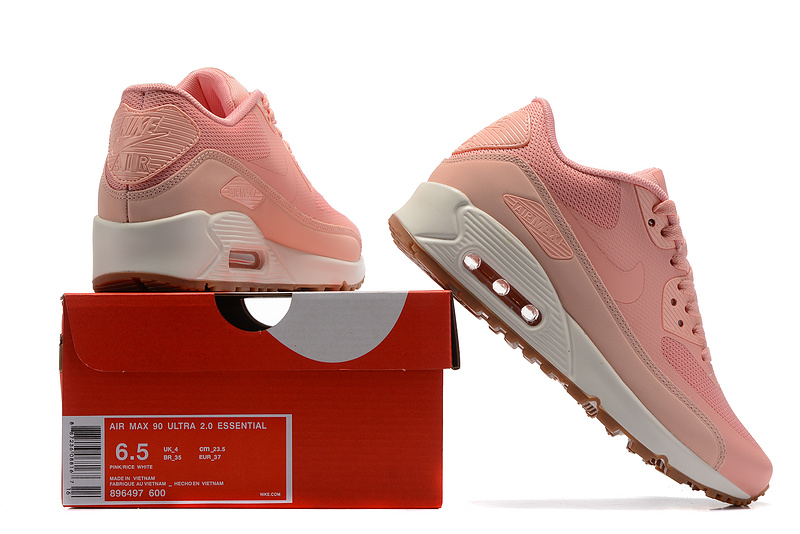 Nike Air Max 90 Ultra 2.0 Essential pink white women Running Shoes 896497 600