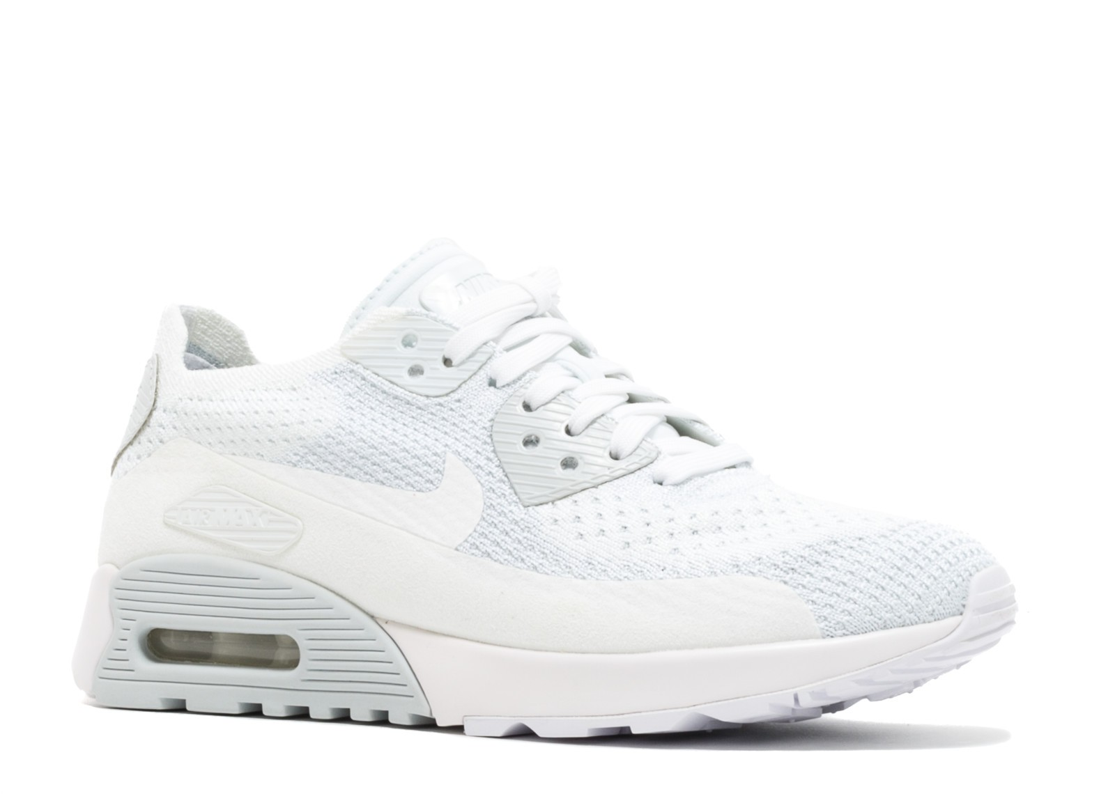 W Nike Air Max 90 Ultra 2.0 Flyknit Platinum White Pure 881109 104