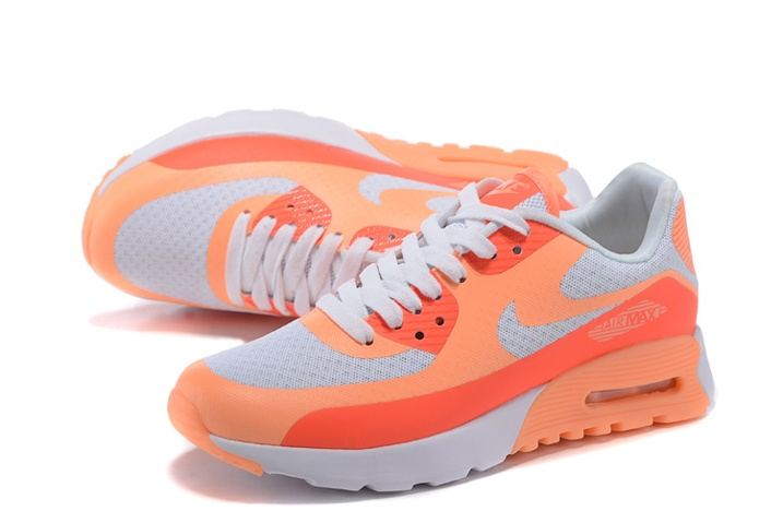 Nike Air Max 90 Ultra BR WMNS Shoes White Sunset Glow Hot Lava ...