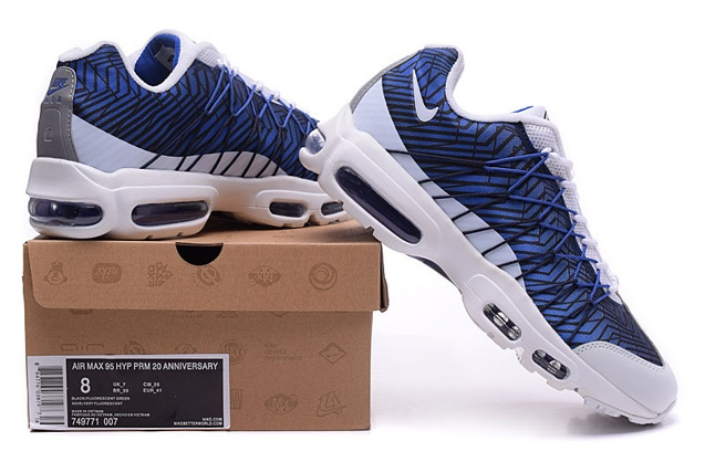 Nike Air Max 95 Ultra JCRD Midnight Navy White Blue Unisex Running Shoes 749771 401