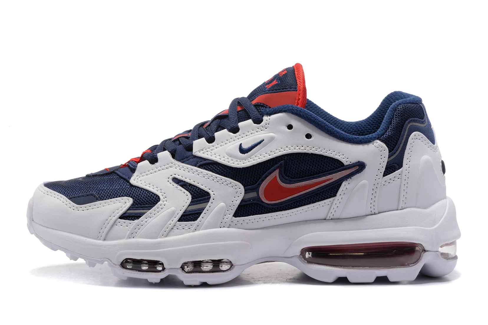 Nike Air Max 96 blue white red Men Running Shoes
