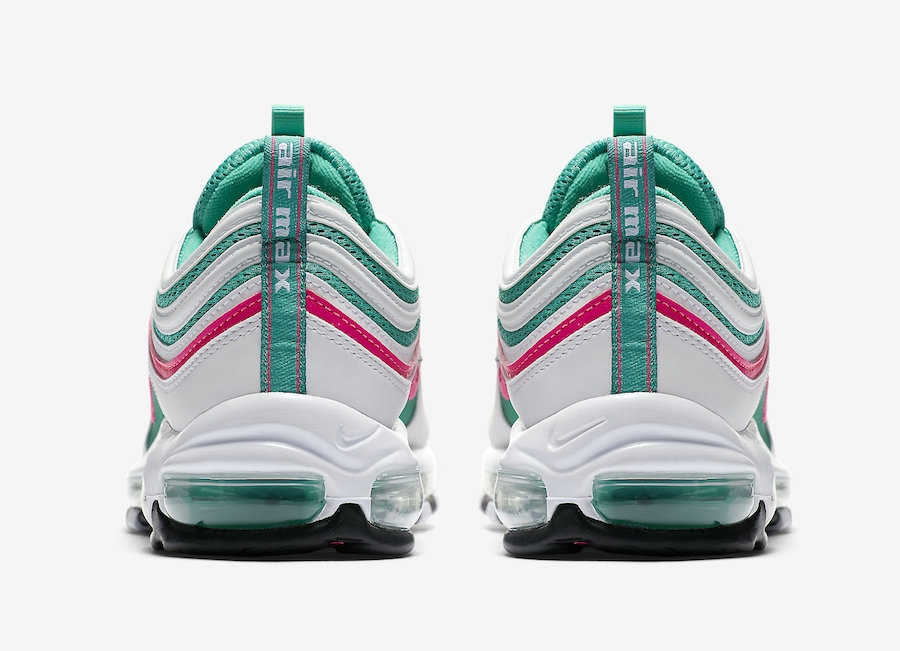 nike AIR MAX 97 WHITEPINK BLAST KINETIC GREEN BLACK bei